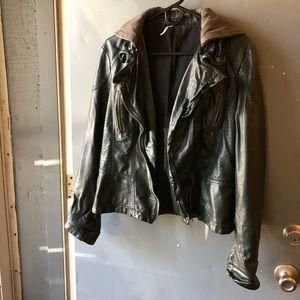 FP vegan leather moto jacket
